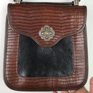 Brighton | Black Brown Crossbody Leather Bag